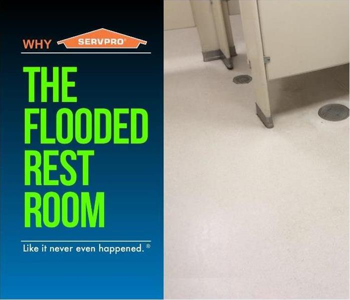 Flooded Restroom After