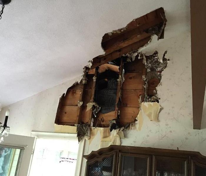 Pipe Bursts in Living Room