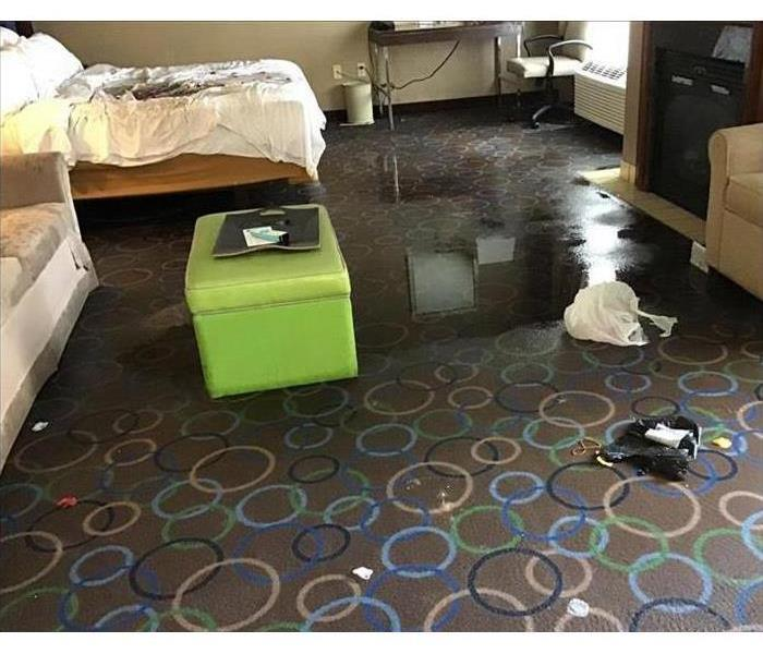 Picture of a flooded hotel room